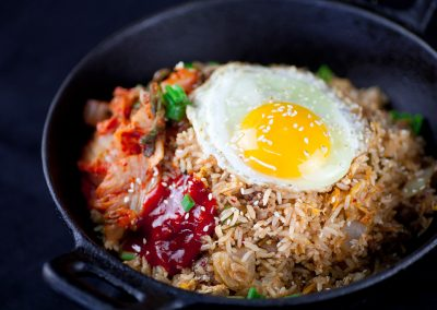Korean Kimchi Beef Fried Rice